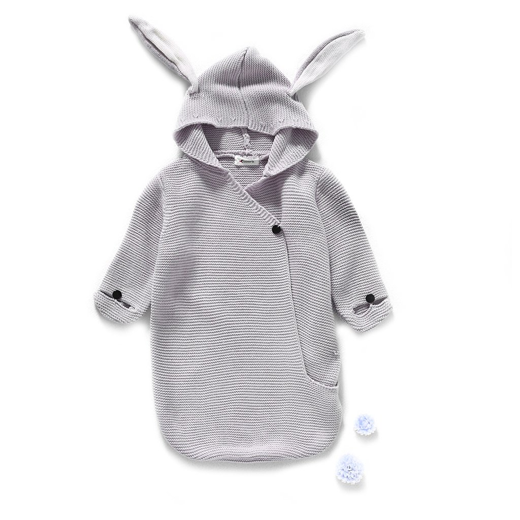 Tandou Baby Sleeping Bag Baby Blankets Newborn Knitted Covers Rabbit Ear Photography Bunny Style Swaddle Wrap (Pink)