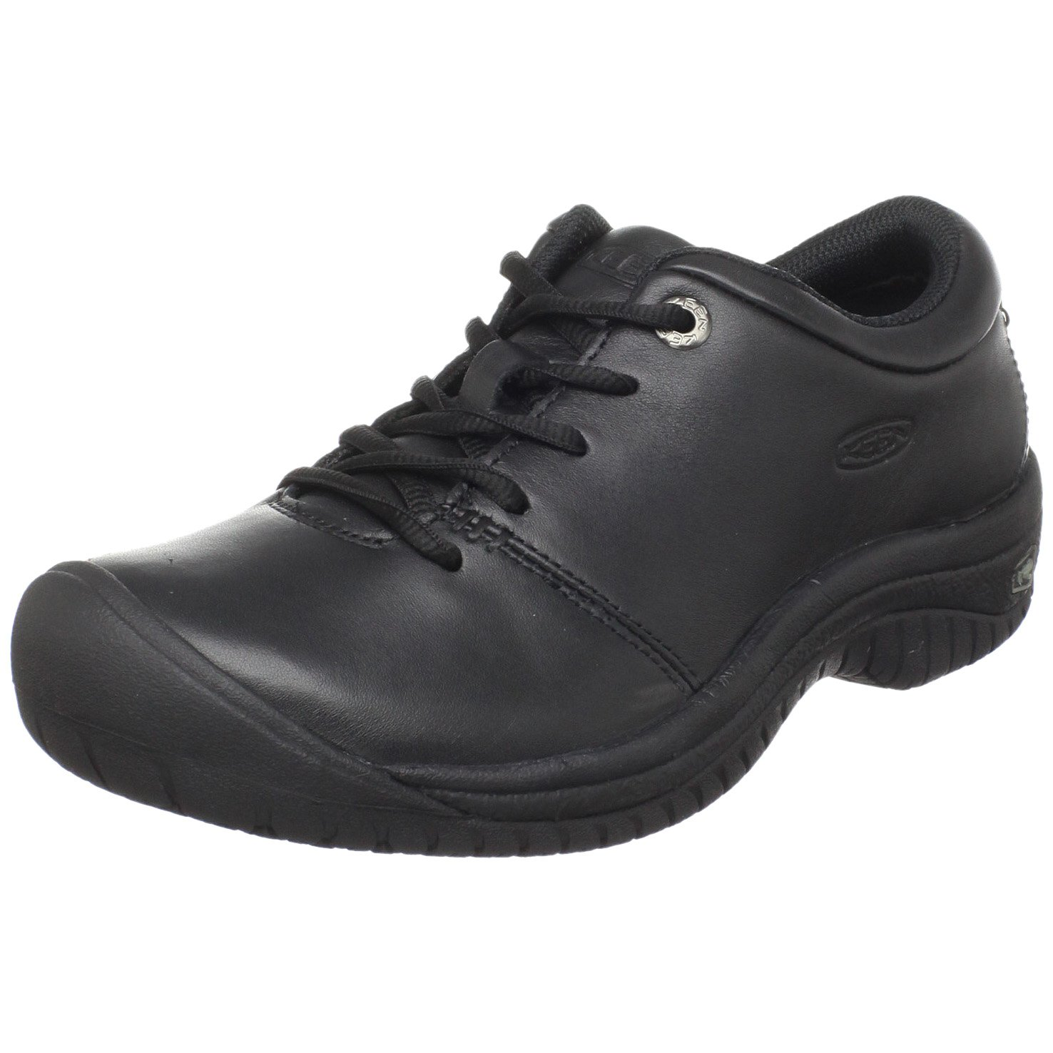 KEEN Utility Women's PTC Oxford Work Shoe,Black,9 M US