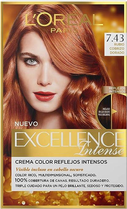 Tintes de pelo color rubio cobrizo