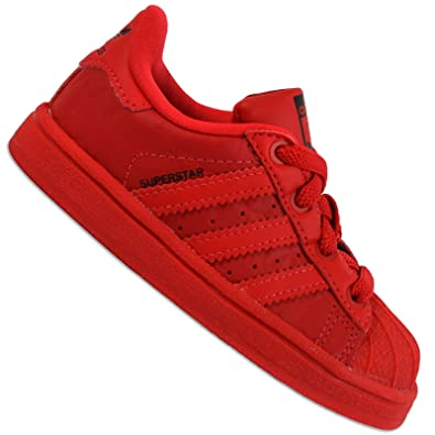san francisco 7e87e d5c3e Adidas Originals Superstar II Enfants Chaussures de sport rouge triple rouge  Baskets, taille de chaussure