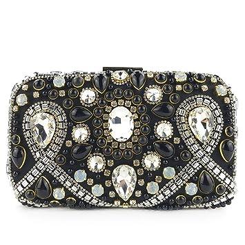 Elegante Bolso de Mano Fiesta para Mujer Clutch, Para mujer de moda de cristal de diamantes ...