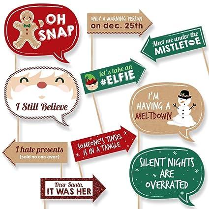 Amazon.com: Funny Christmas - Holiday & Christmas Party Photo Booth ...