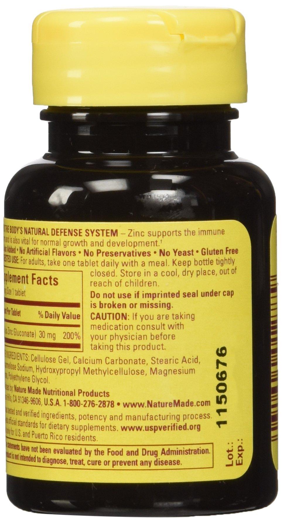 Nature Made Zinc Tabs - 30 mg - 100 ct - Buy Online in UAE ...