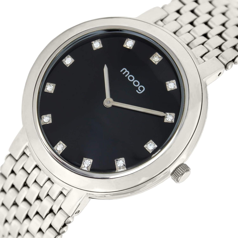 Edelstahl Paris M46174 Moog Uhr 001Uhren Analog Armband Mit X8nwOk0P