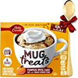 Mug Cake Pumpkin Spice Microvawe Mix with Cream Cheese Icing and Mixing Spoon Cupcake Treats Limited Edition