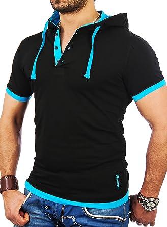 86512039f12dd9 Reslad Kapuzenshirt Herren Slim Fit T-Shirt mit Kapuze Sommer-Shirt Männer  Hoodie RS-5033  Amazon.de  Bekleidung