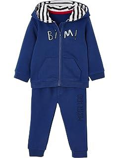 6eb65f7696f69 VERTBAUDET Ensemble bébé sport sweat zippé et pantalon Bleu électrique 3M -  60CM