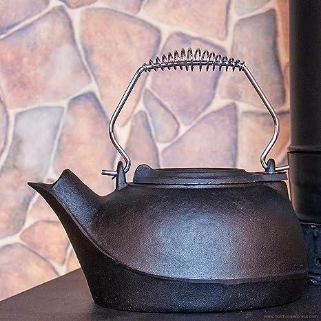 Amazon.com: 3 Quart de hierro fundido Estufa de leña ...