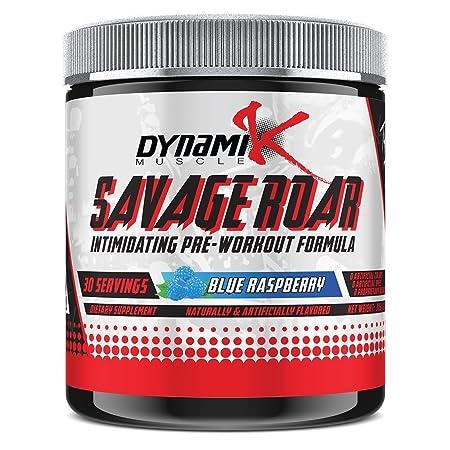Savage Roar Dynamik Muscle Pre-Workout Formulated By Kai Greene Blue Raspberry