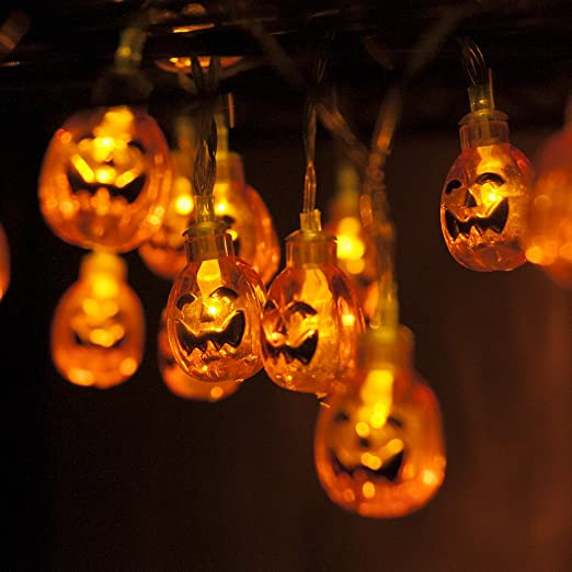 Zucca Lamp - MAXAH® Lampada Pumpkins - 2 ghirlande luminose d3bcc3897231