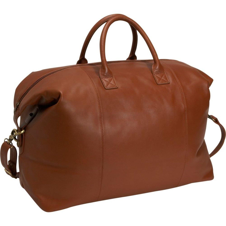 Royce Leather Luxury Duffel Bag Luggage Handmade in Leather, Tan, One Size