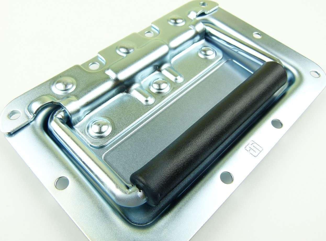 Kistengriff Klappgriff für Lautsprecherboxen Silber Stahl