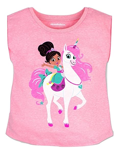 2c1996ba2 Amazon.com  Nella The Princess Knight Toddler Girls Unicorn T-Shirt ...