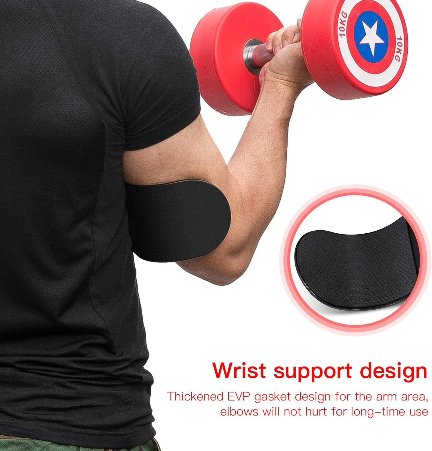 Adjustable Robust Rivets Thick Gauge Aluminum Muscle Strength Weight Lifting Biceps Triceps Big Arms Bodybuilding Bicep Isolator EveryMile Fitness Arm Curl Blaster Sports Arm Blaster
