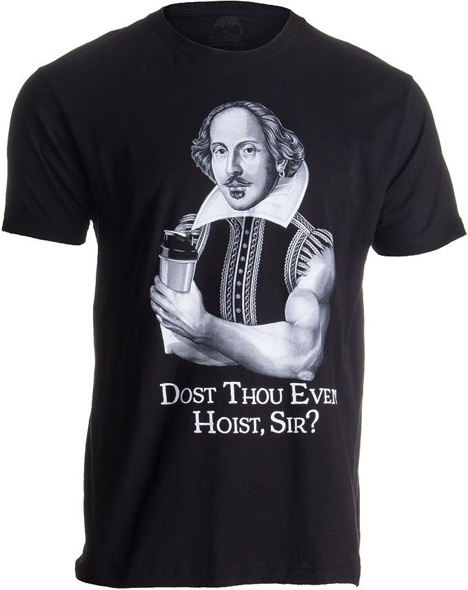 (¿Vuestra Merced Puede Levantar Pesas? - Humor para el Gimnasio - Shakespeare cachas - Camiseta para Hombre XX-Large Negro - XX-Grande - 2XL: Amazon.es: ...