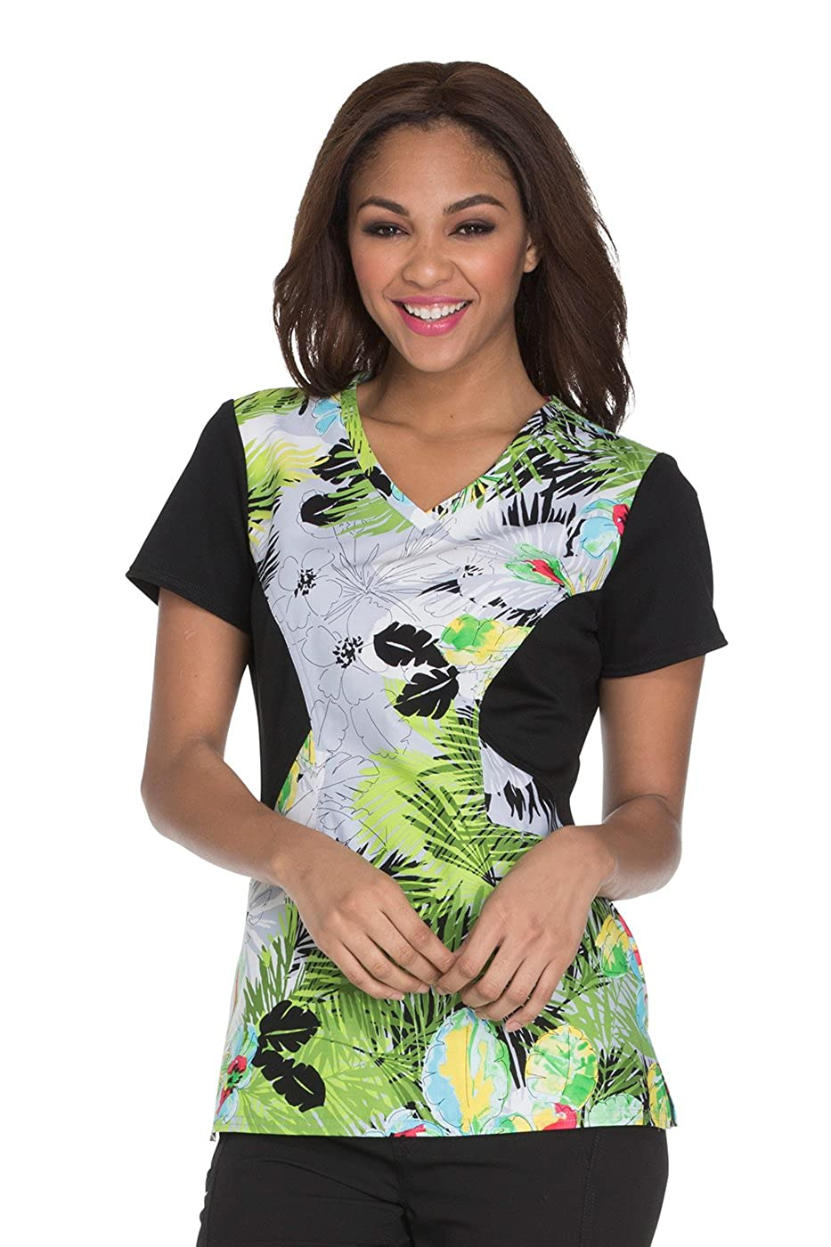 a0e9713a52a Amazon.com: Careisma by Sofia Vergara Women's V-Neck Animal Print Scrub Top:  Clothing