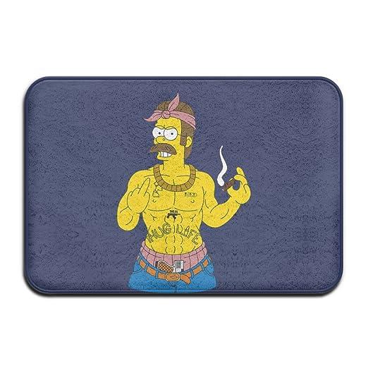 Cartoon Simpson muscular Bienvenido Mat Felpudo al aire libre cool ...