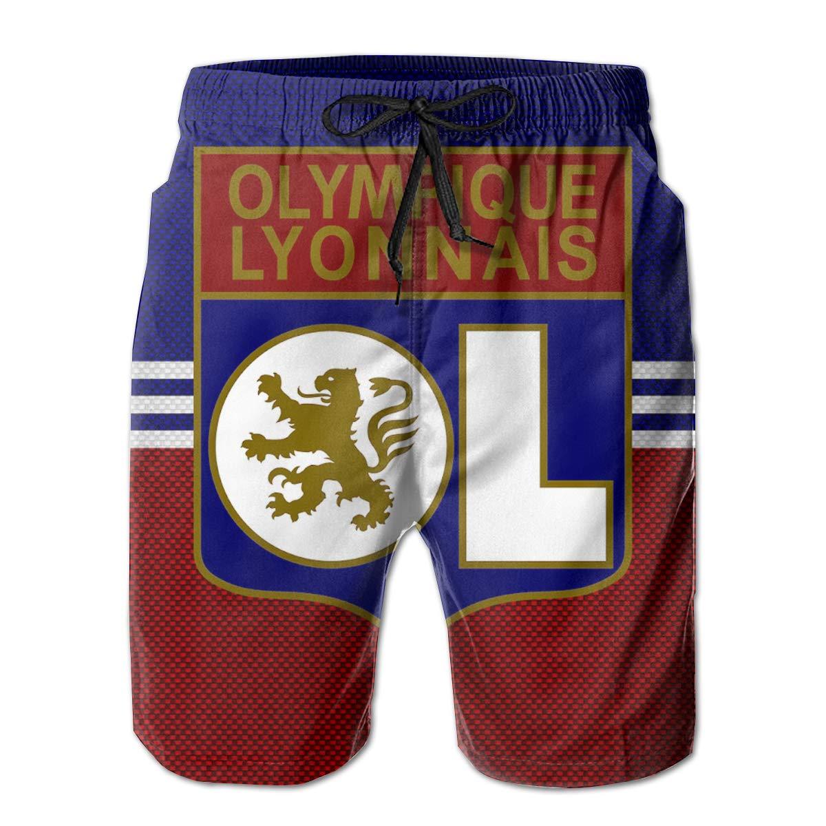 Olympique Lyonnais 3D Printed Short De Bain Pour Homme Short De Bain Block Maillot De Bain Pour Homme Short De Plage Sport Swimsuit