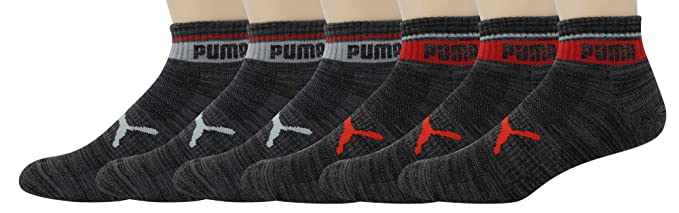 bf44238310a0 PUMA Men s 6 Pack Quarter Crew Socks at Amazon Men s Clothing store