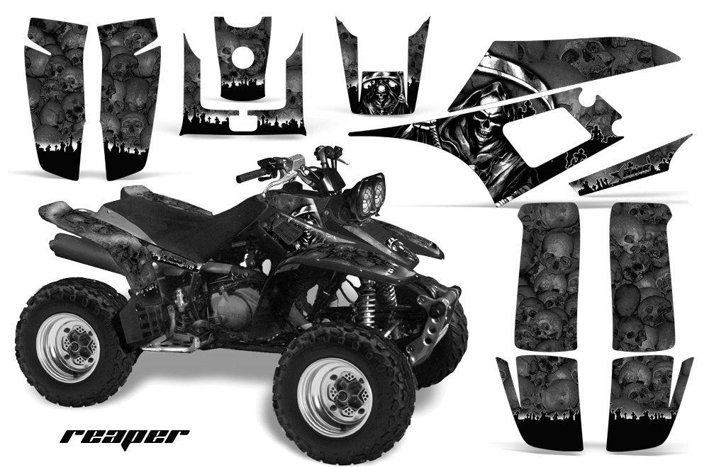 Yamaha Warrior 350 All Years ATV All Terrain Vehicle AMR Racing Graphic Kit Decal REAPER BLACK