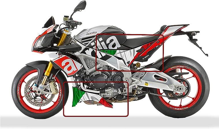 Aprilia Tuono V4 1100 Factory Italienische Flagge Bauch Und Seitenwand Grafik Satz Auto