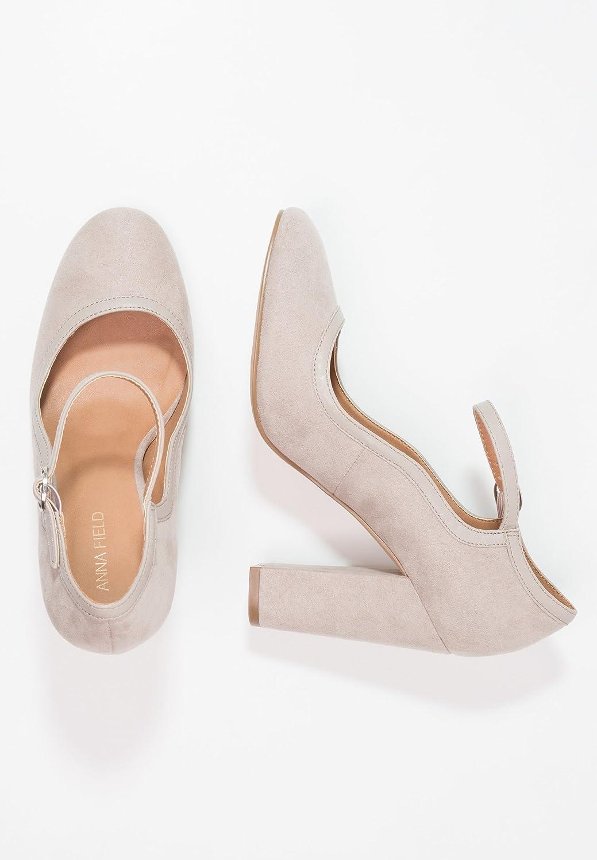 3950b57526a102 Anna Field Escarpins pour Femmes avec Sangle à la Cheville - Chaussures à  Talons pour Femmes Élégantes - Chaussures de Soirée Chic Femmes à Bout  Rond: ...