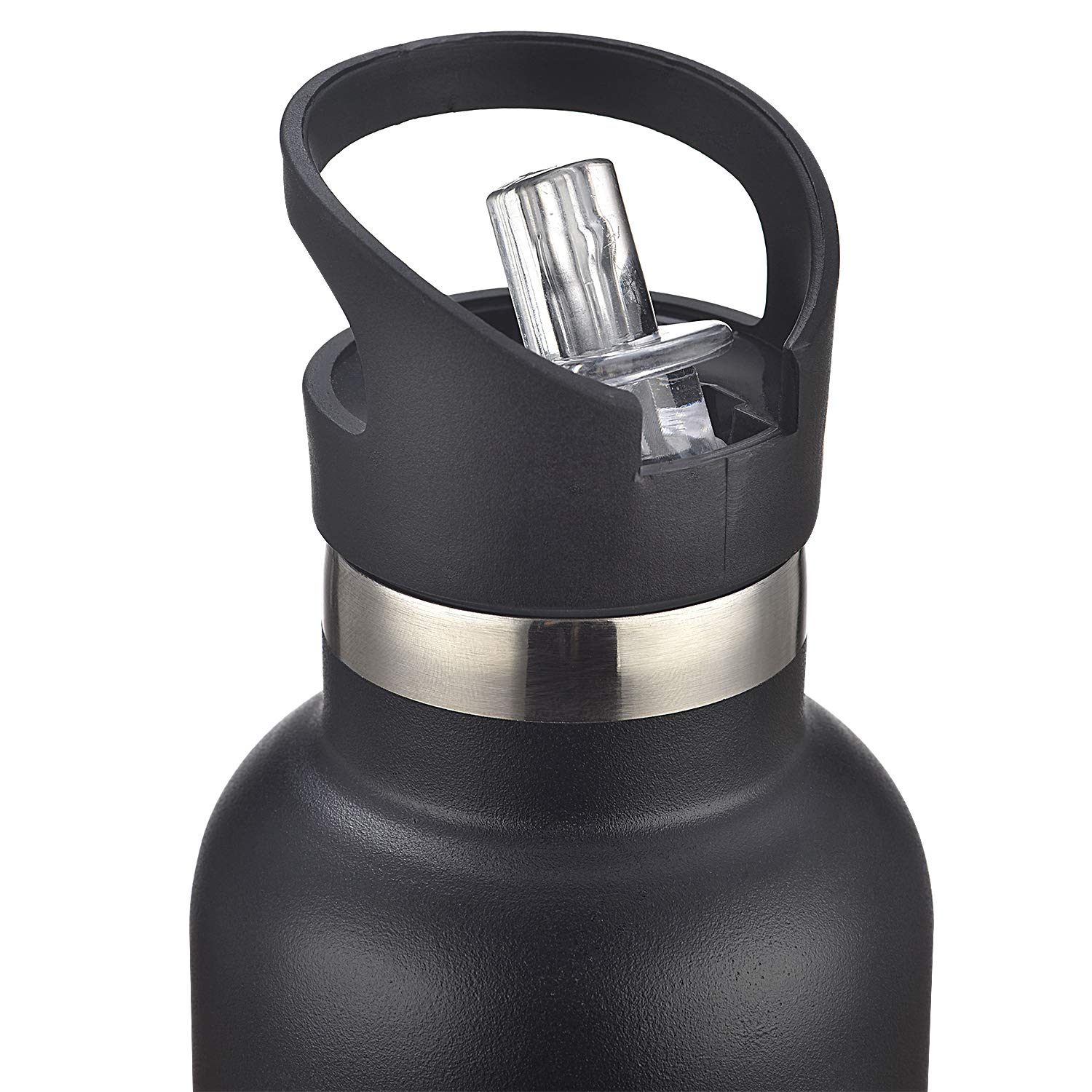 vanpo Insulated Water Bottle Straw Lid Standard Mouth Travel Sports Vacuum Water Bottle with Compass and Handy Loop