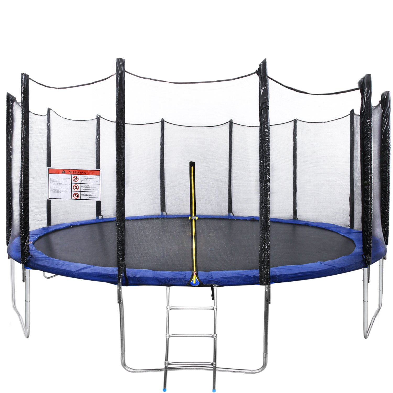 Gartentrampolin Faltbar Fitness Trampolin mit Netz Erwachsene Kinder Jumper Outdoor, 366/427/457 cm, 150/170 kg