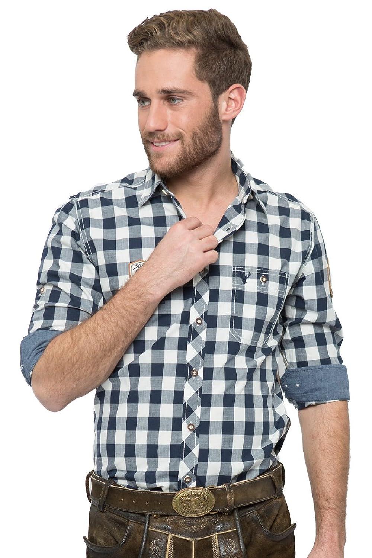 Krüger Herren Trachtenhemd James blau/weiß H040057