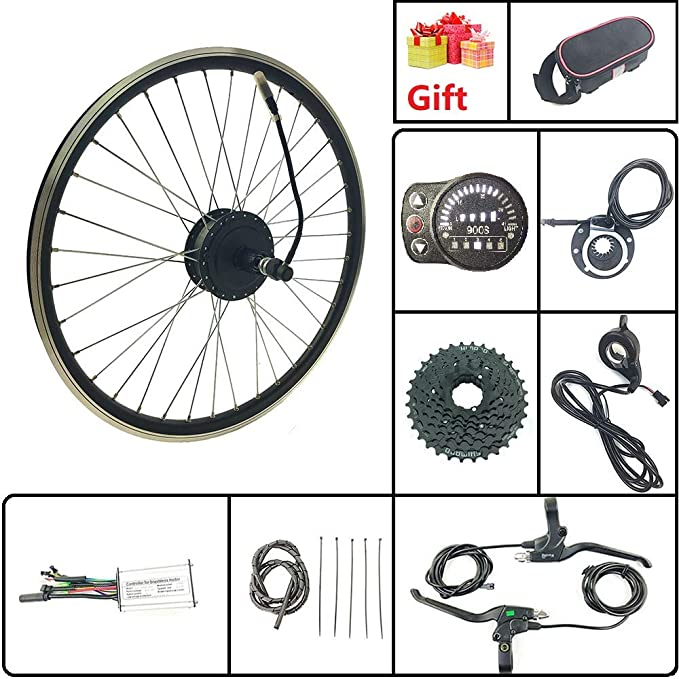 Schuck Kit de conversión de Bicicleta eléctrica de 20 Pulgadas con ...