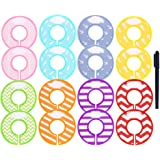 Caydo 16 Pieces Colorful Baby Boy Girl Closet Dividers Clothing Rack Size Dividers with Marker Pen