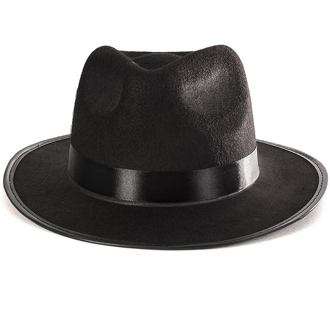 e6a7e7a315dce Negro Fedora Sombrero Gangster disfraz accesorio - Funny Gorros de fiesta