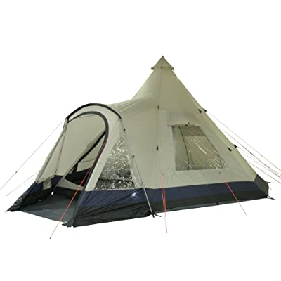 10T Apache 600+ Tente pyramide pour 12 personnes Beige/Bleu