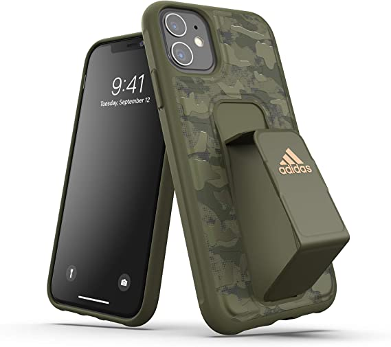 Nuez Perforar Estribillo  Amazon.com: adidas Grip Case Green for The iPhone 11