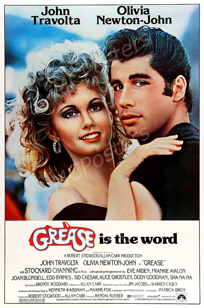 MCPosters Grease is the Word GLOSSY FINISH Movie Poster - MCP223 (24'' x 36'' (61cm x 91.5cm))