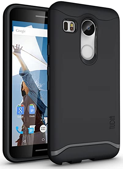 reputable site 756d8 9f933 TUDIA Slim-Fit Merge Dual Layer Protective Case for Nexus 5X [with  Microphone Cutout] (2015) (Matte Black)