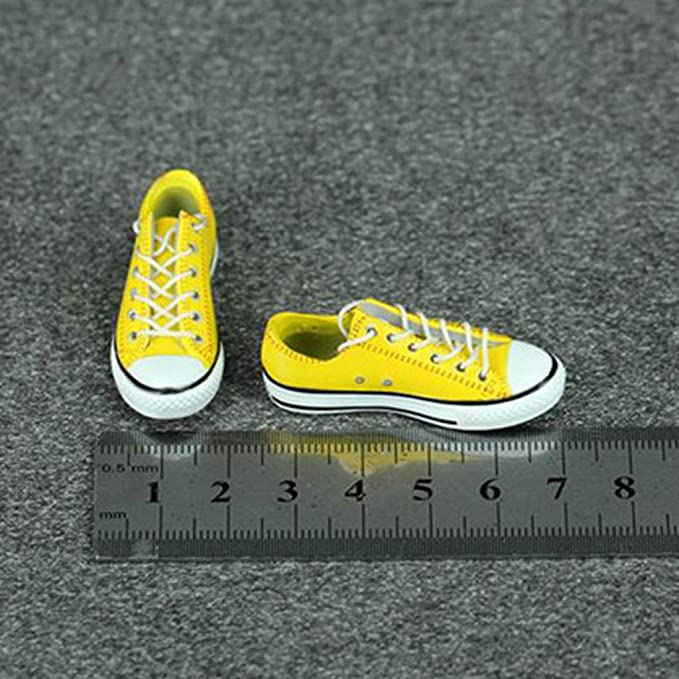 a839c18cc10f2 Amazon.com: MagiDeal 1/6 Lace Up Canvas Shoes Flats Sneakers for 12 ...