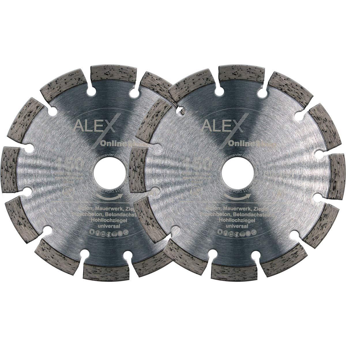 Disco de corte de diamante profesional de 150 mm de di/ámetro x 22,23 mm para hormig/ón apto para fresadora de diamante