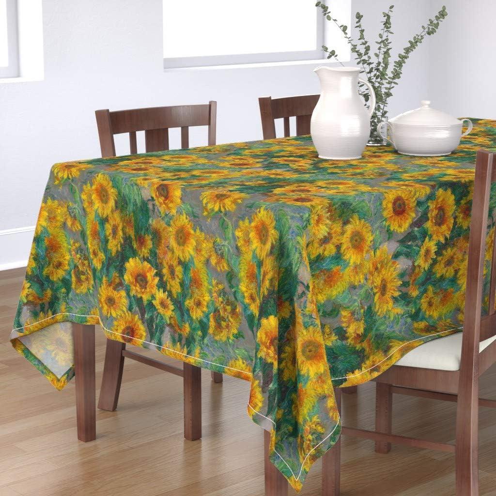 Floral Sheet Set By Weavingmajor jumbo Monet/'s Sunflowers Summer Sunflowers  Sheet Set  with Spoonflower Fabrics