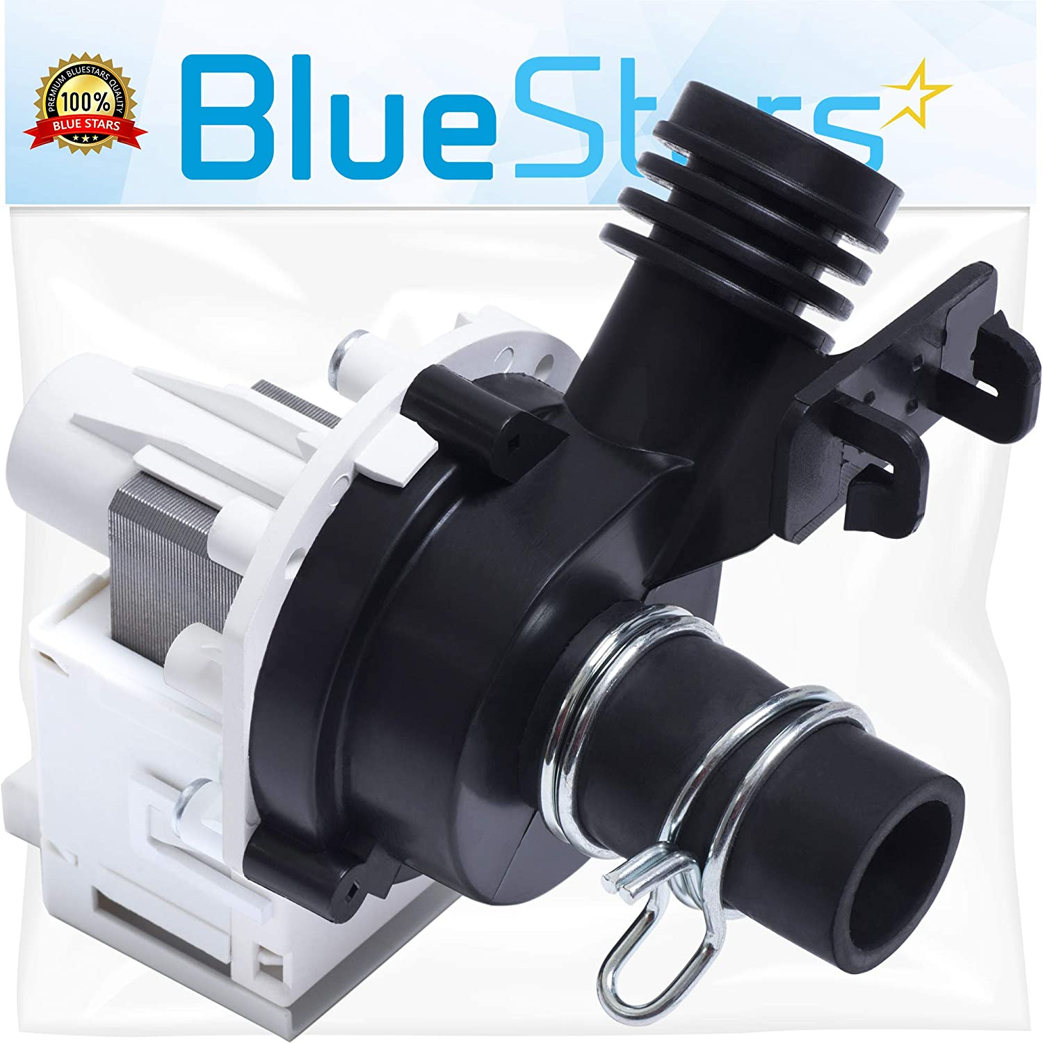 Ultra Durable 154580301 Dishwasher Drain Pump Replacement Part by Blue Stars – Exact Fit For Frigidaire Dishwashers - Replaces AP4019644 1257094 154491301