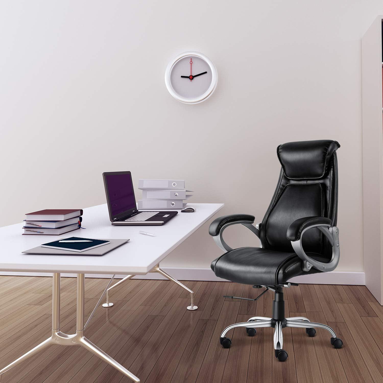SMUGDESK Executive Office Chair High Back Desk Task Chair Ergonomic Computer Chair with Tilt and Lock Mechanism Black