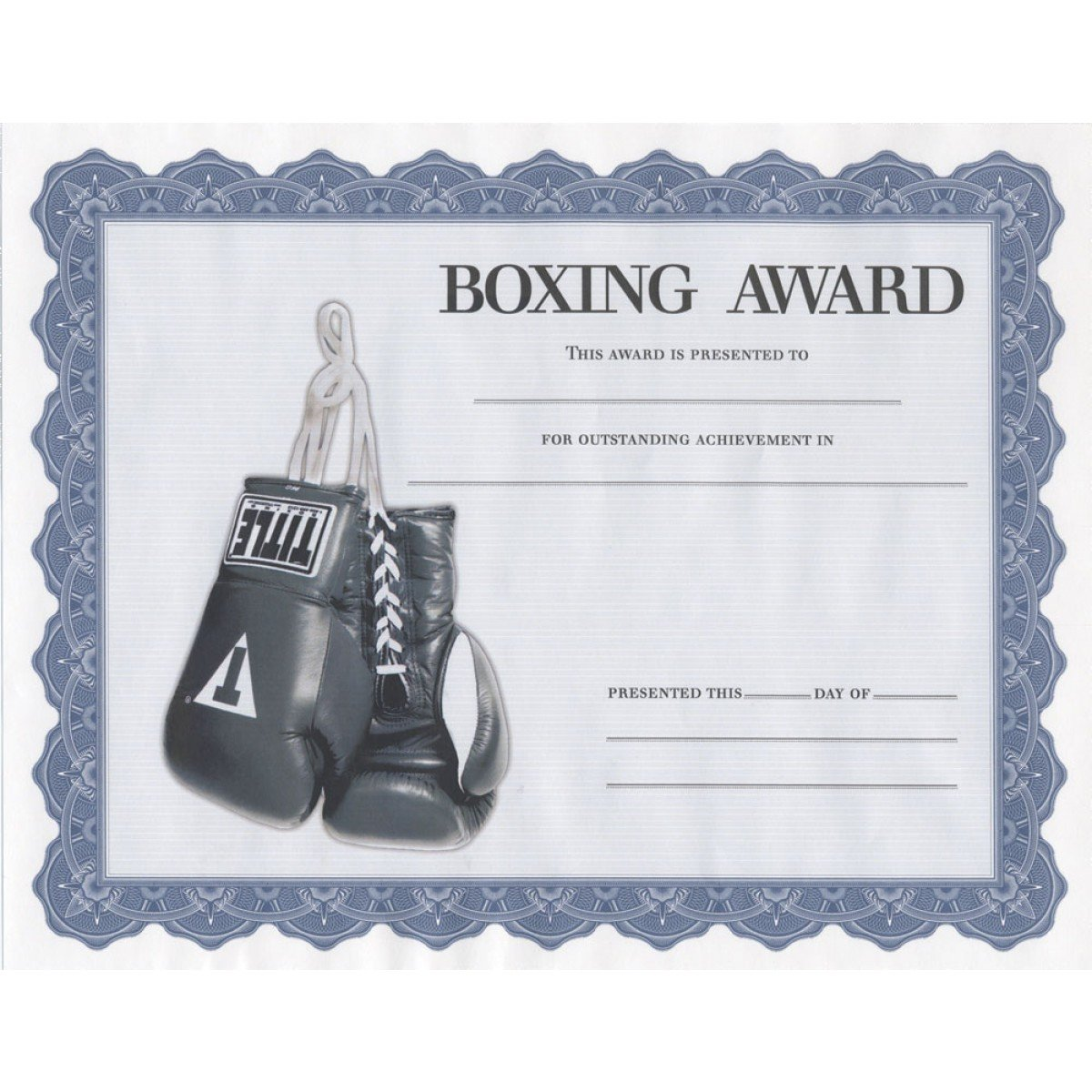 TITLE Boxing Award Certificates