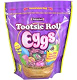 Tootsie Roll Eggs Candy Coated Egg Shaped Individually Wrapped Easter Candy, 23 oz Resealable Bag (Single)