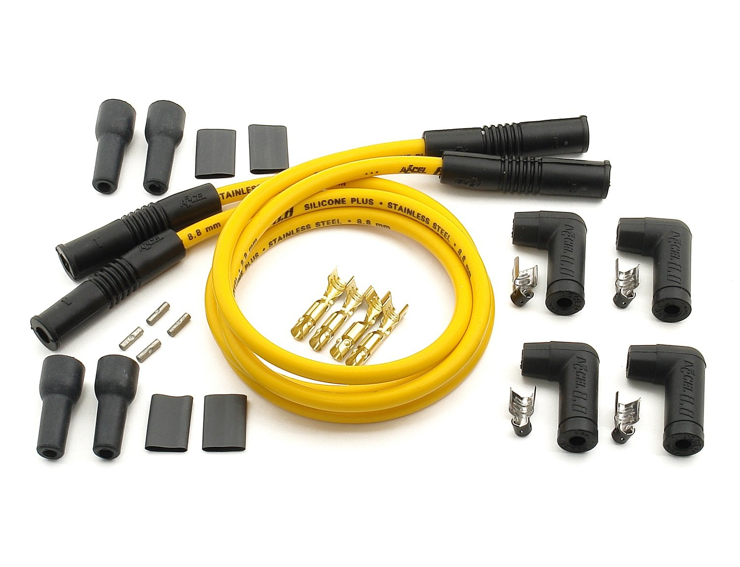 ACCEL 170082 8.8mm Yellow Universal Spark Plug Wire Set ACC 170082