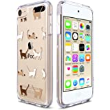 ULAK iPod Touch 6 Case,iPod Touch 5 Case, Clear Slim Hybrid Premium Clear Bumper TPU/Scratch Resistant Hard PC Back Cover/Corner Shock Absorption Case for Apple iPod Touch 5 6th Gen, Cat