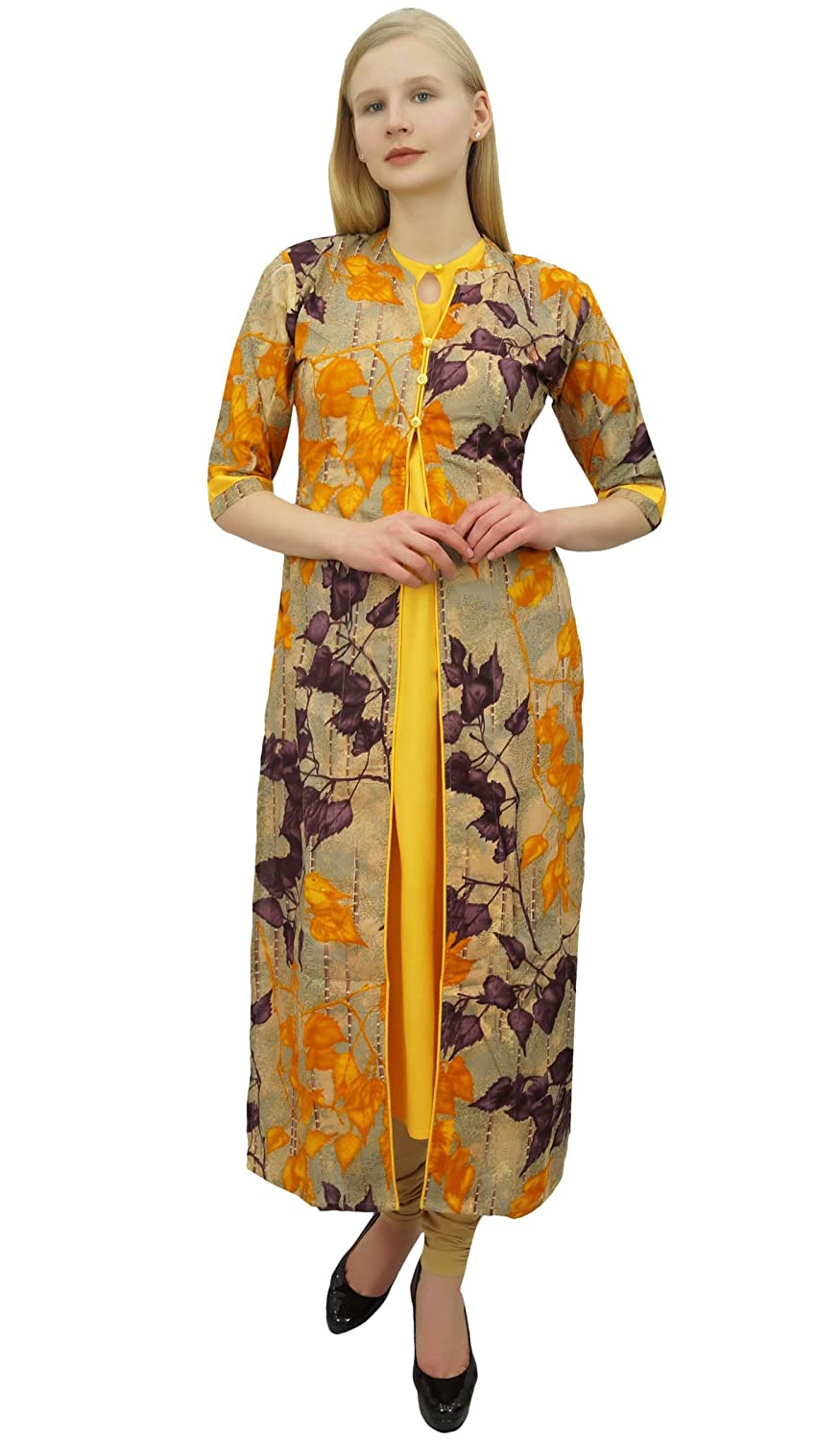 b4aba76e0f Phagun Women's 2 Pcs Kurta with Jacket Dress Indian Designer Clothing:  Amazon.com.au: Fashion