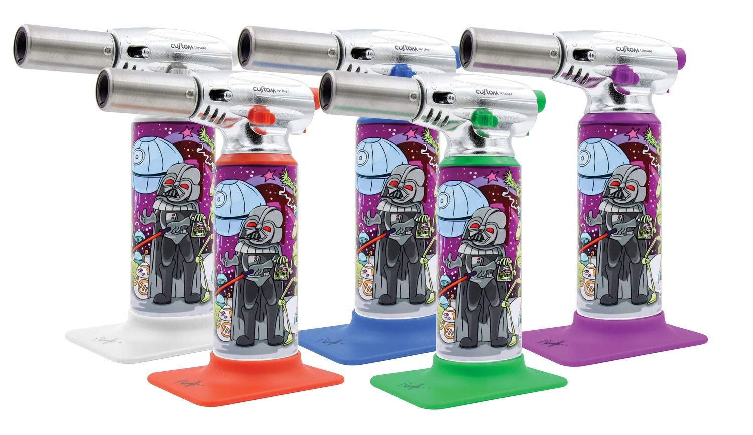 Dunkees Butane Torch Lighter - 7'' / Assorted Colors & Designs (Dab Wars) by Custom Torches (Image #1)