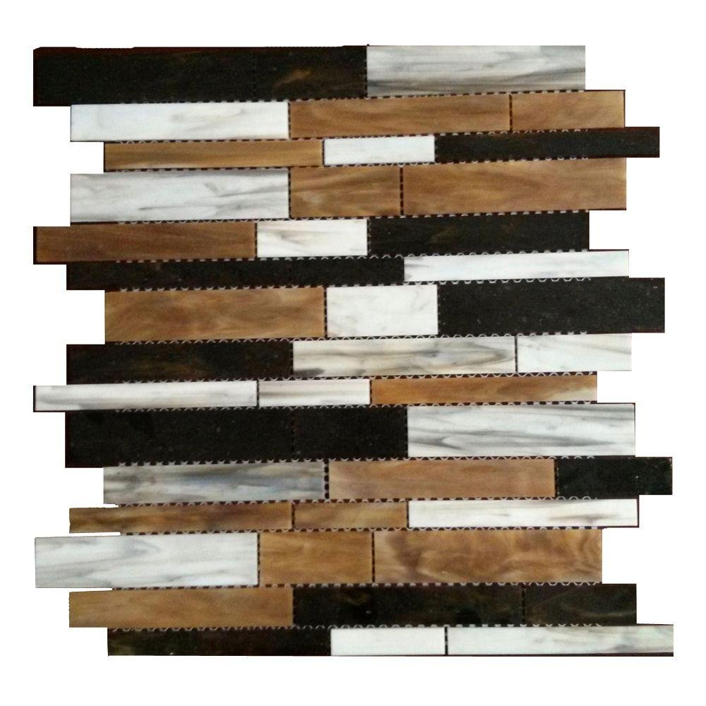 Dazzle Mosaic Matchstix Mockingbird 12 in. x 12 in. x 3 mm Glass Floor and Wall Tile Stained glass for Kitchen Backsplashes, Bathroom Walls, Spas, Pools by Dazzle Mosaic (10 Pack) by Dazzle Mosaic
