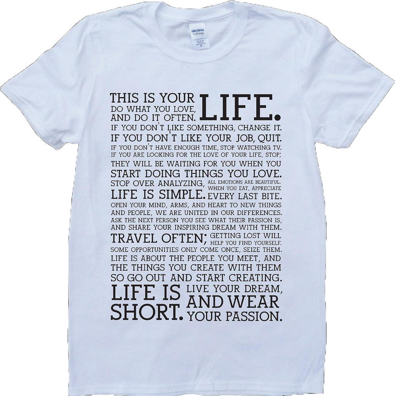 Holstee Manifesto Short Sleeve Crew Neck Custom Made T-Shirt