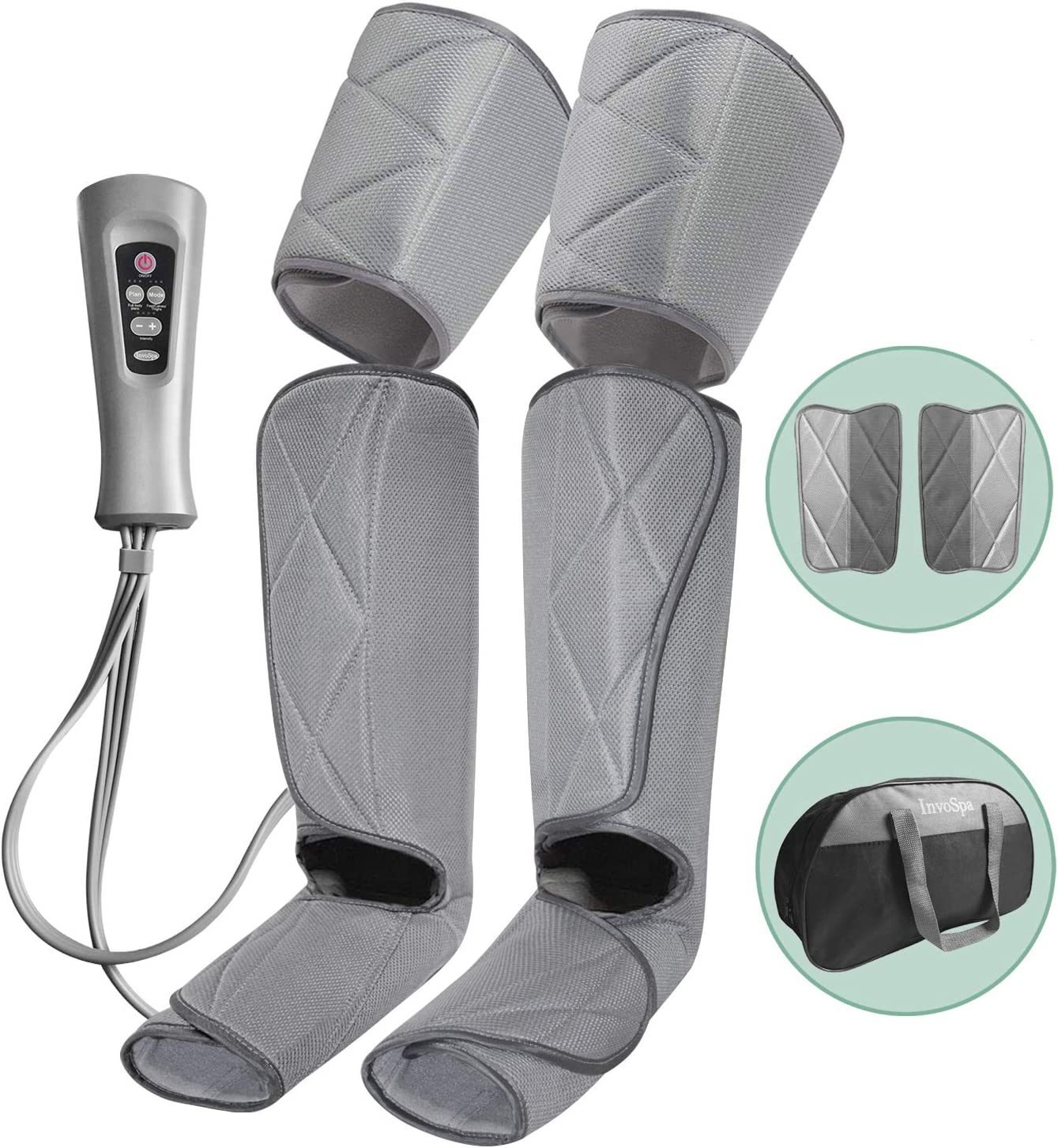 Leg Massager for Circulation – Foot and Calf Massager Air Compression Leg Thigh Wraps Massage Boots Machine for Home Use Relaxation with Controller
